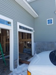 Before, During & After Garage Door Installation in Salem, MA We also performed framing work to custom fit the new tracks. (1)