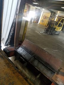 Servicing Dock Leveler at Estes Freight in Methuen, MA (1)