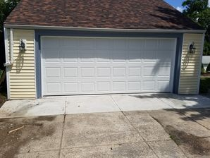 Before & After Residential Garage Door Installation in North Providence, RI (1)